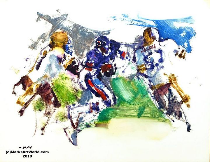 Walter Payton by Mark Gray - MarksArtWorld