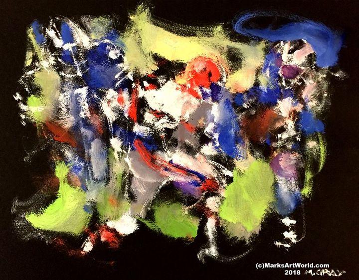 Abstract Football Scene by Mark Gray - MarksArtWorld