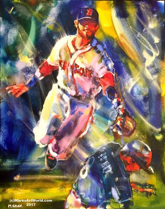 Boston RedsoxScene by Mark Gray - MarksArtWorld