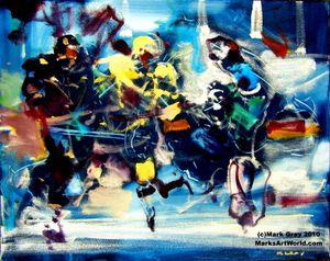 'Abstract Hockey Scene' by Mark Gray