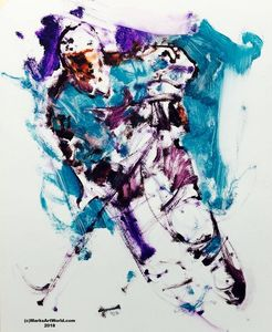 Sharks Hockey Player by Mark Gray