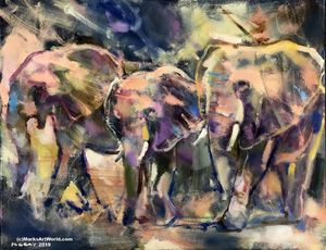 'I Herd That' Elephants by Mark Gray