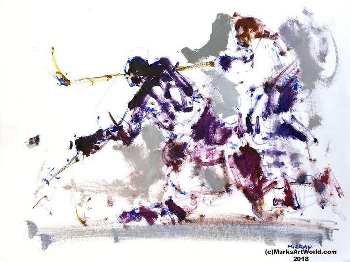 Hockey Scene by Mark Gray - MarksArtWorld