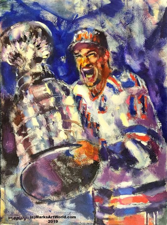 Mark Messier by Mark Gray - MarksArtWorld