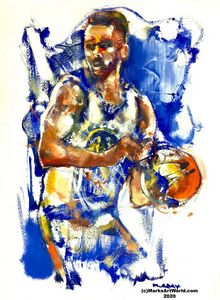 Stephen Curry by Mark Gray