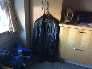 Original leather coat.