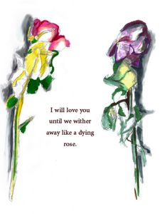 Dying Rose Post Card (Laminated)