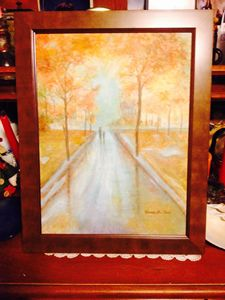 AFTER THE RAIN OIL PAINTING FRAMED