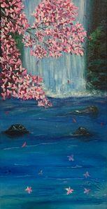 Cherry Blossom Waterfall