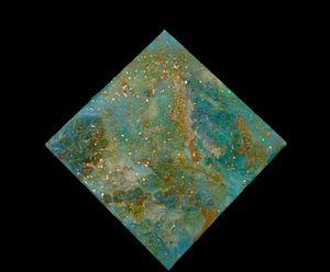 Blue Crush Geode Resin Art - Gabrielli Pichardo