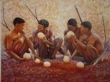 Khoi San oil painting set - 2