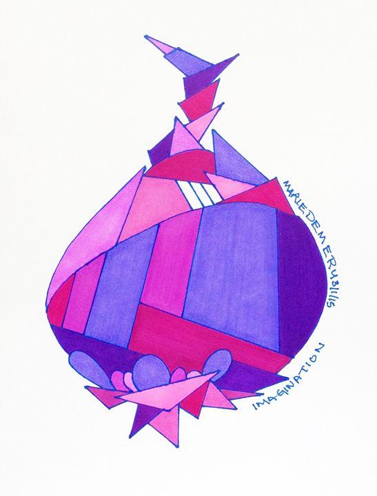 Purplish Abstract Shallot - MarieDemery