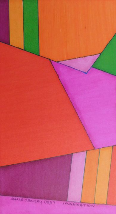 Nonobjective Lines, Colors, Shapes - MarieDemery