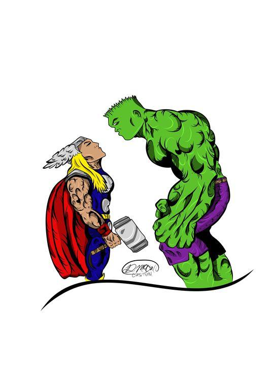 Thor Vs Hulk - Famous Creationz