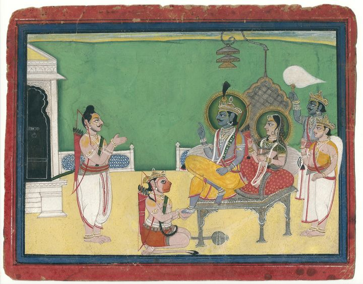 RAM DARBAAR - Lord Rama and Sita - spacerajah
