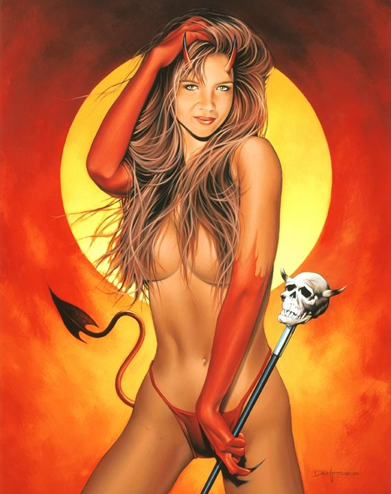 Fallen Angel - Dave Nestler Pinup, Comic, and Entertainment Art