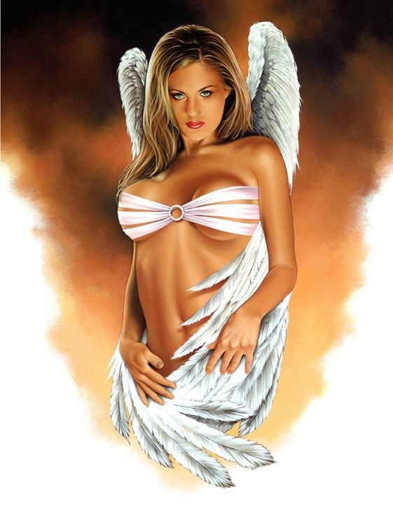 Angel Eyes - Dave Nestler Pinup, Comic, and Entertainment Art
