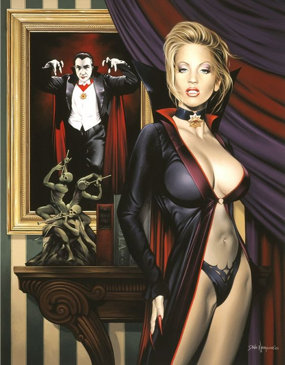Daddy's Little Girl - Dave Nestler Pinup, Comic, and Entertainment Art