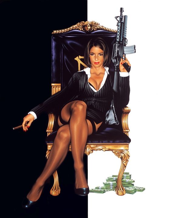 Say Hello to my little Friend - Dave Nestler Pinup, Comic, and Entertainment Art