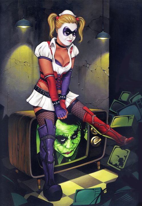 Nothing good on TV - Dave Nestler Pinup, Comic, and Entertainment Art