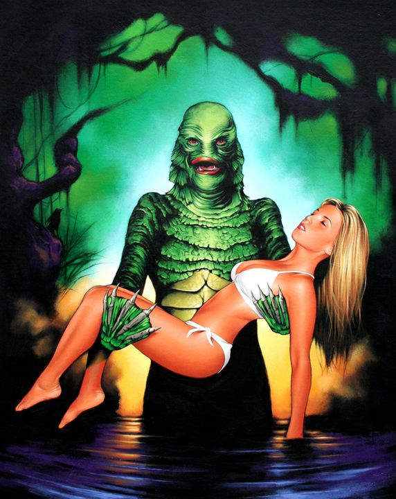 Creature - Dave Nestler Pinup, Comic, and Entertainment Art