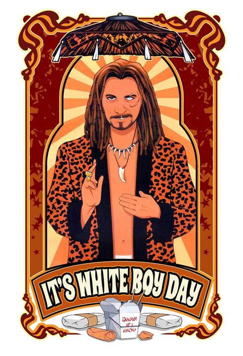 It's White Boy Day - Dave Nestler Pinup, Comic, and Entertainment Art