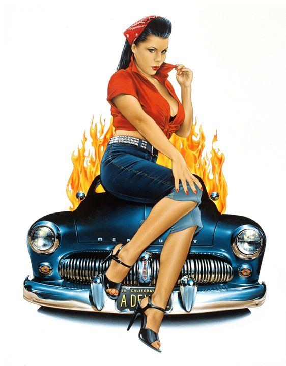 Mercury Rising - Dave Nestler Pinup, Comic, and Entertainment Art