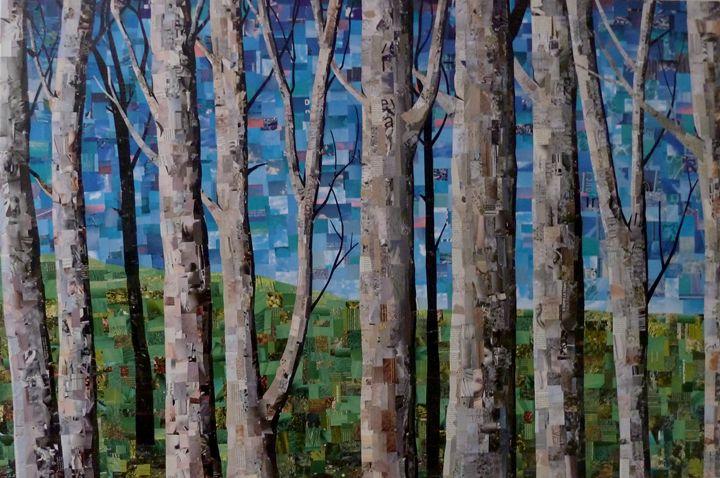 collage trees - Daniela