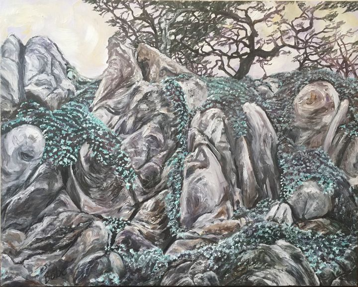 """Stone Flowers"" - BB Fine Art"