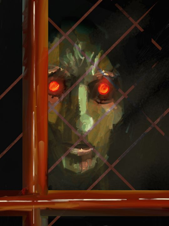 Face at Croglin Grange - Art of Craig Spears