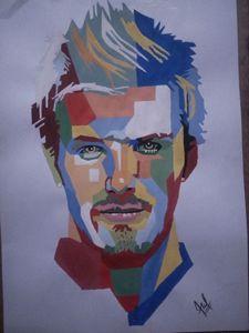 David Beckham portrait - Madan
