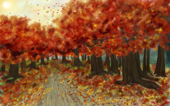 Fall road - Lupi's Wonders