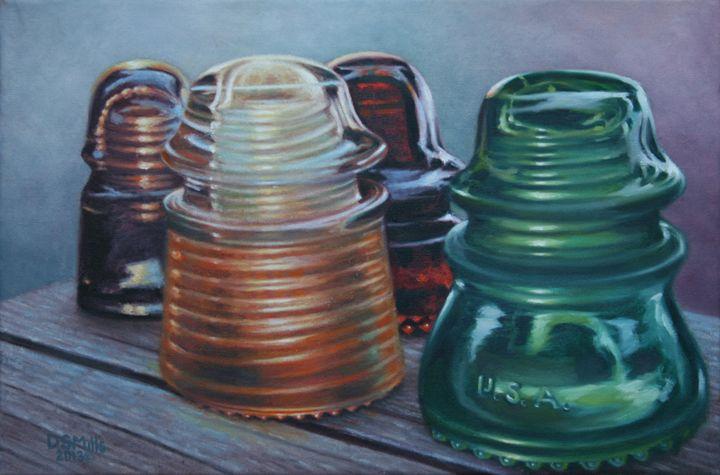 Wood N Glass - Dan Mills Art