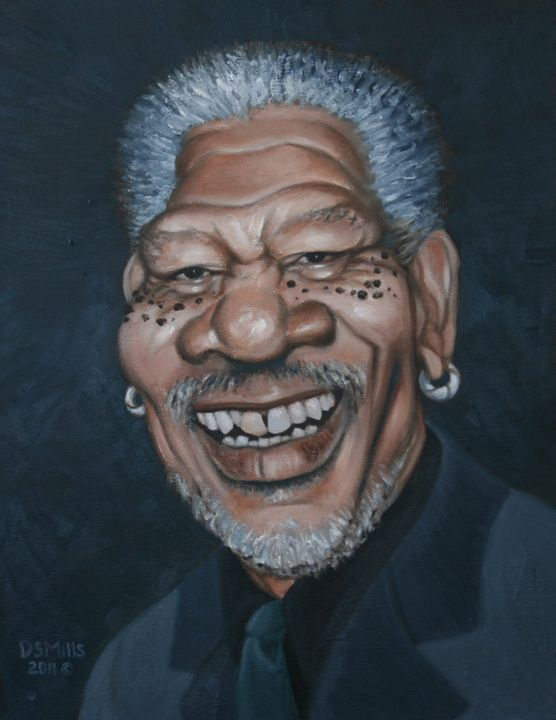 Morgan Freeman - Dan Mills Art