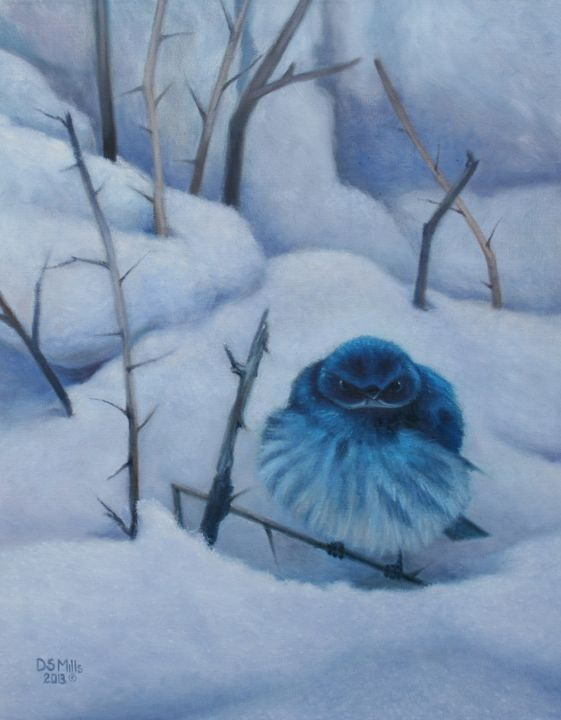 Blue Bird of Happiness? - Dan Mills Art