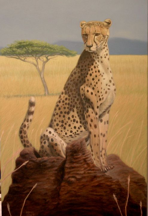 Serengeti Speed Trap - Dan Mills Art