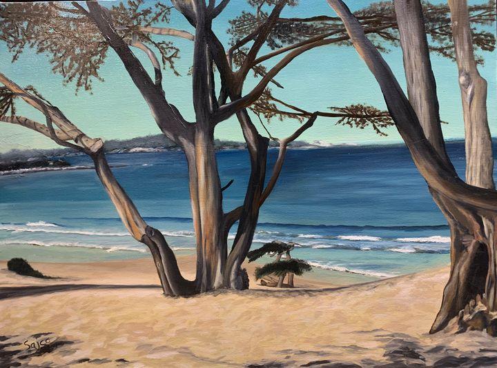Carmel Beach - Sajco Art