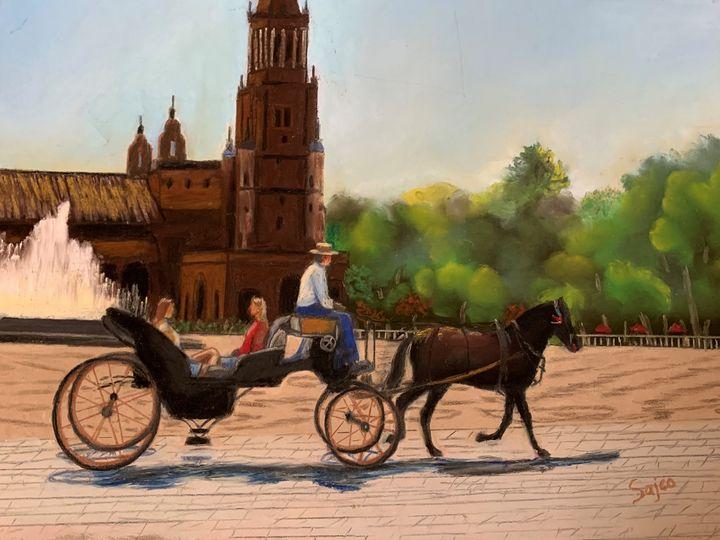 Carriage Ride in Seville - Sajco Art