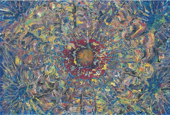 space sun flower - rumplefish