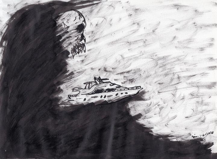 Yachting Black Seas - Darkvine Art
