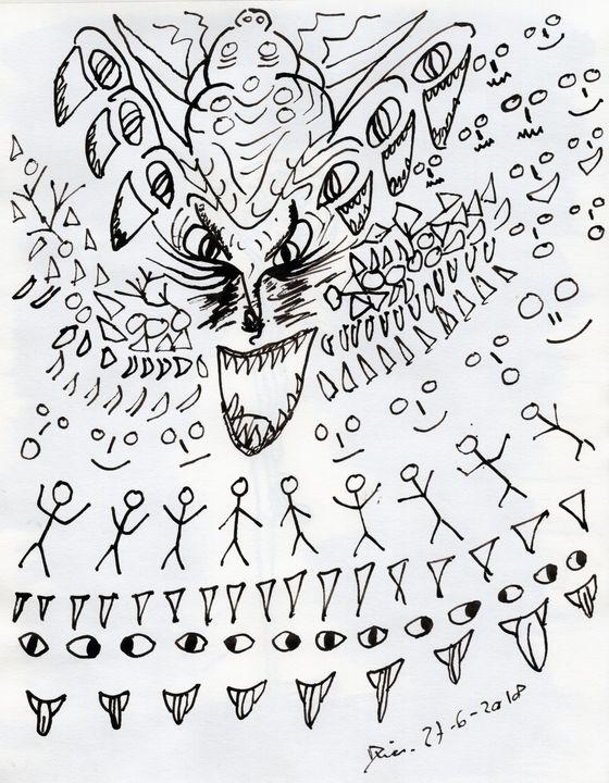 Closed Eye Madness - Darkvine Art
