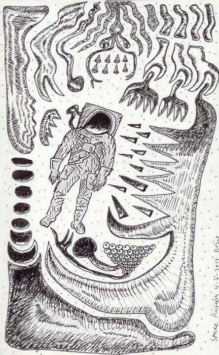 Space Anxiety - Darkvine Art