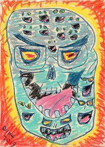 Laughing Skull Center Universe - Darkvine Art