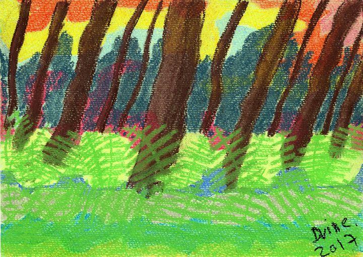 The Trees, The Ferns, And The Acid. - Darkvine Art