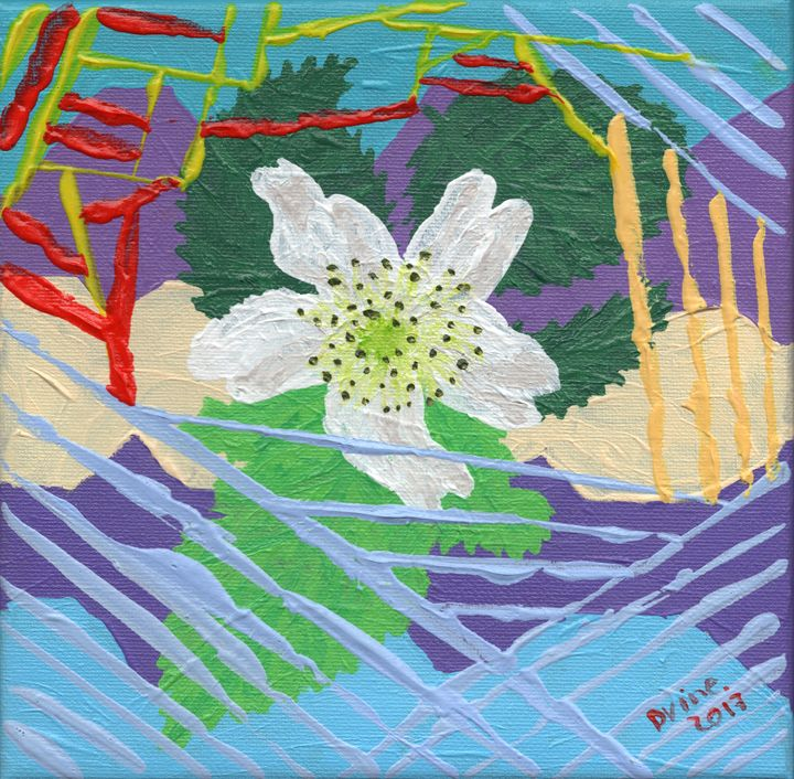 Blackberry Blossom Flower Acrylic - Darkvine Art