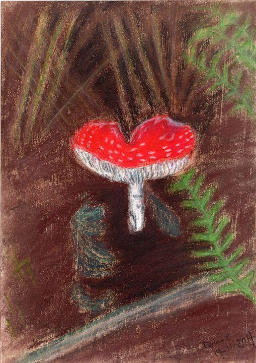 Fly Agaric - Muddy Pastels - Darkvine Art