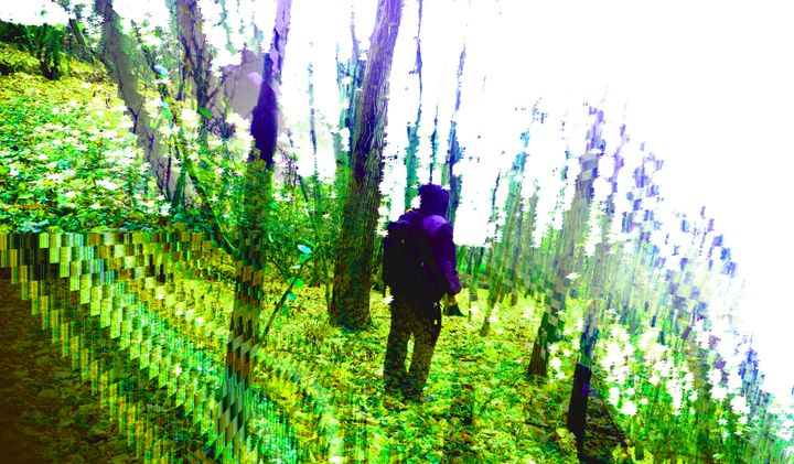Psychedelic Hiking Self Portrait - Darkvine Art