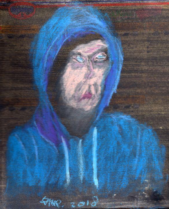 Pizza Box Self-portrait - Darkvine Art