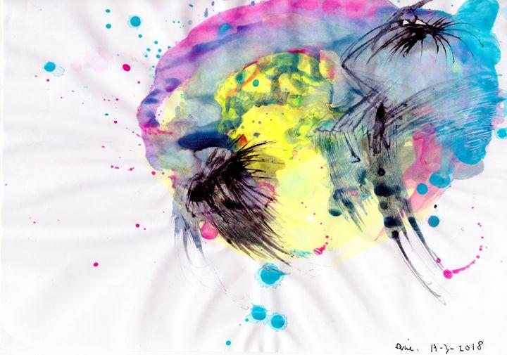 Youthful Planets And Lightning. - Darkvine Art