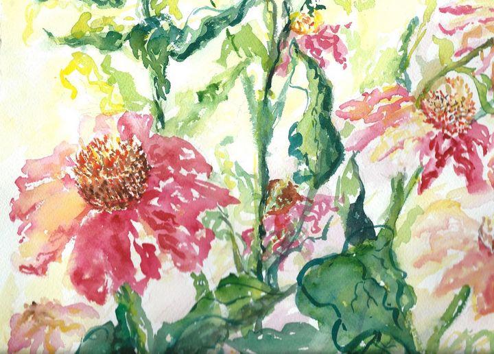 Dance of The Cone Flowers - Hattie's Art